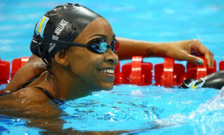 She placed 10th overall but today bahamas press celebrates the bahamas swimming sensation for Female only swimming pool london
