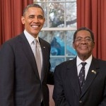 Bahamas US Ambassador Dr. Newry presents credentials to President, Barack Obama